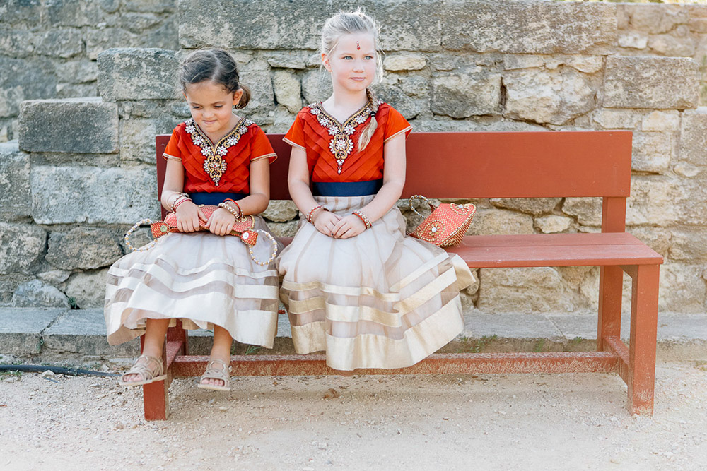 Beautiful flowergirls' dresses. Bluecicada Photography. www.theweddingnotebook.com