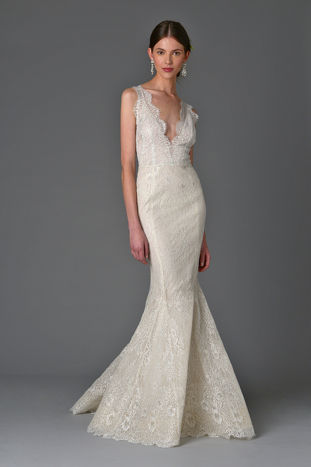 Lavender without overskirt - Marchesa Spring 2017 Bridal Collection. www.theweddingnotebook.com