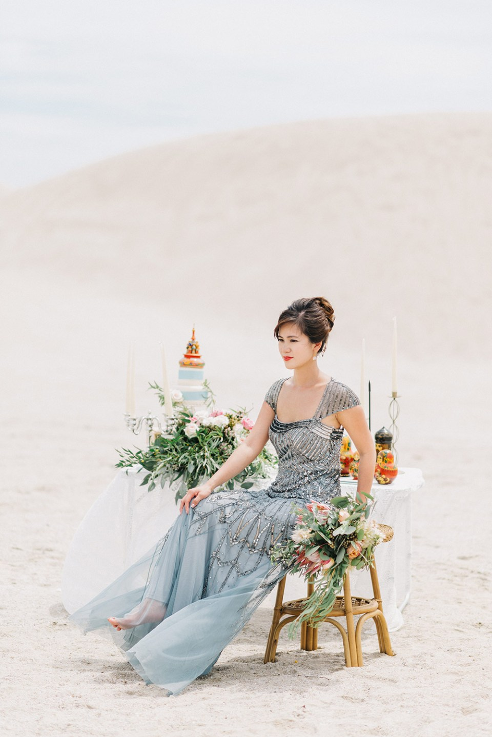 Dress by Adrianna Papell from Rent A Dress. Peter Herman Photography. www.theweddingnotebook.com