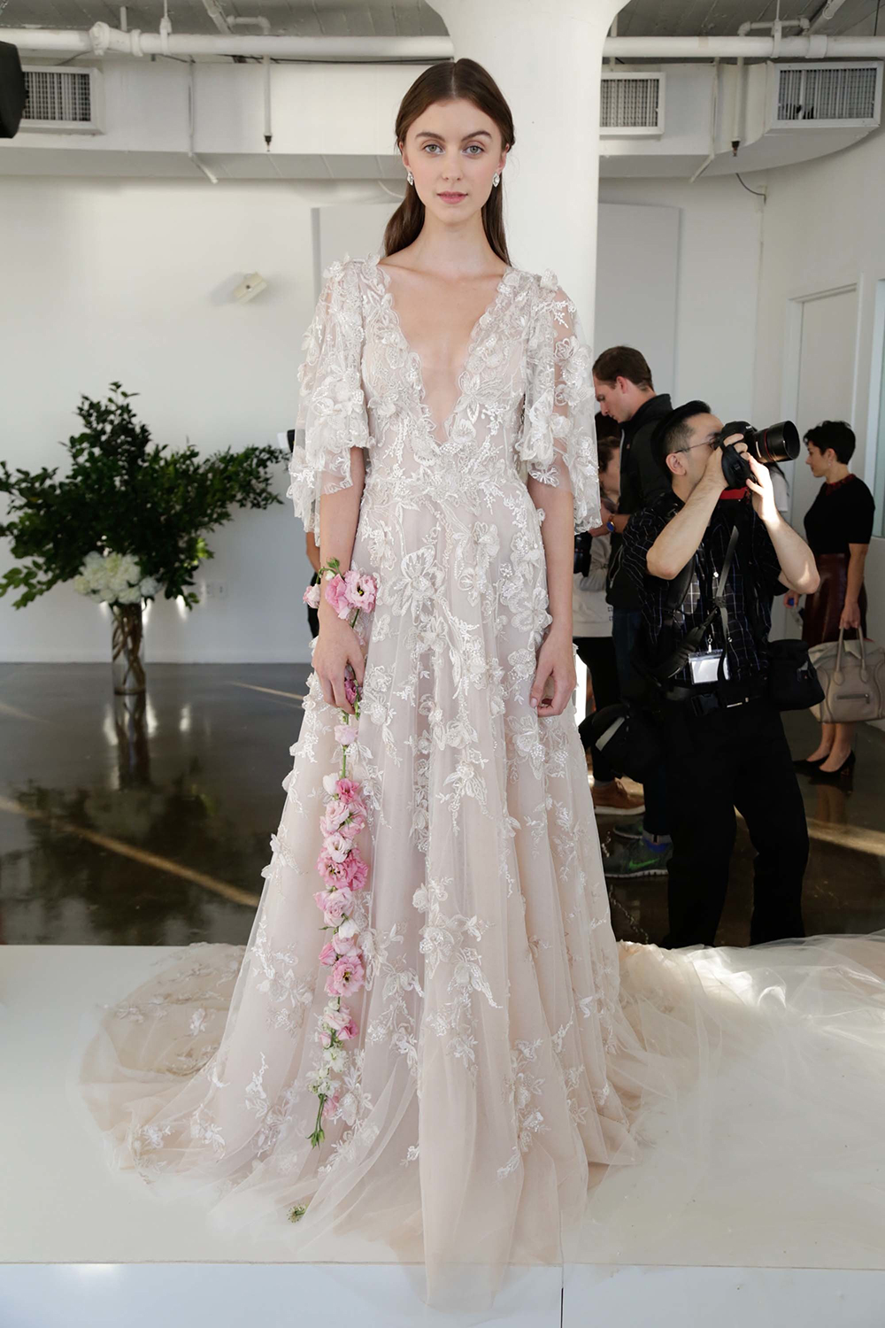 Estrella - Marchesa Fall 2017 Bridal Collection. www.theweddingnotebook.com