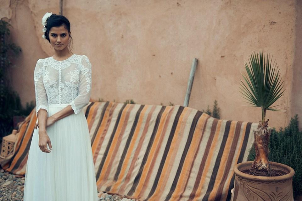 Alesia dress - Laure de Sagazan 2019 Bridal Collection. www.theweddingnotebook.com