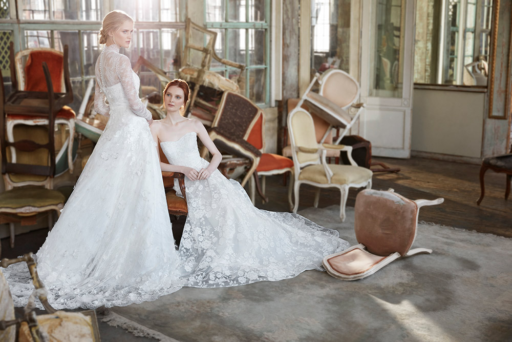 Halette and Paulette - Sareh Nouri Fall 2020 Bridal Collection. www.theweddingnotebook.com