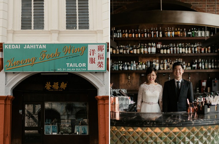 Chic bridal portraits in Chinatown Kuala Lumpur. Kane.CY Photography. www.theweddingnotebook.com