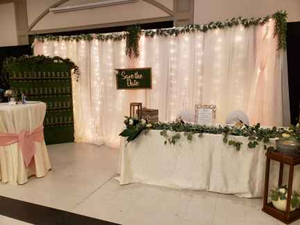 head table display and backdrop sarnia wedding expo