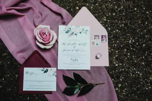 invitations set cambridge butterfly