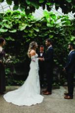 wedding ceremony at cambridge butterfly boho wedding dress