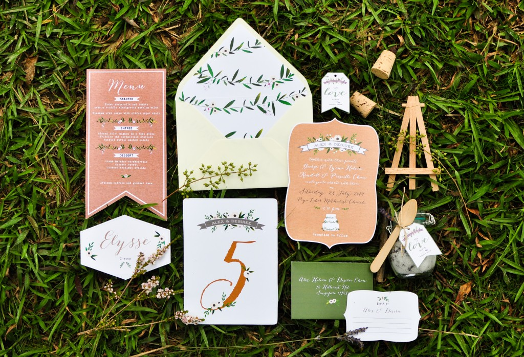wedding invitations singapore paper bunny