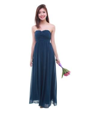 thebmdshop bridesmaid cleo maxi navy blue 1