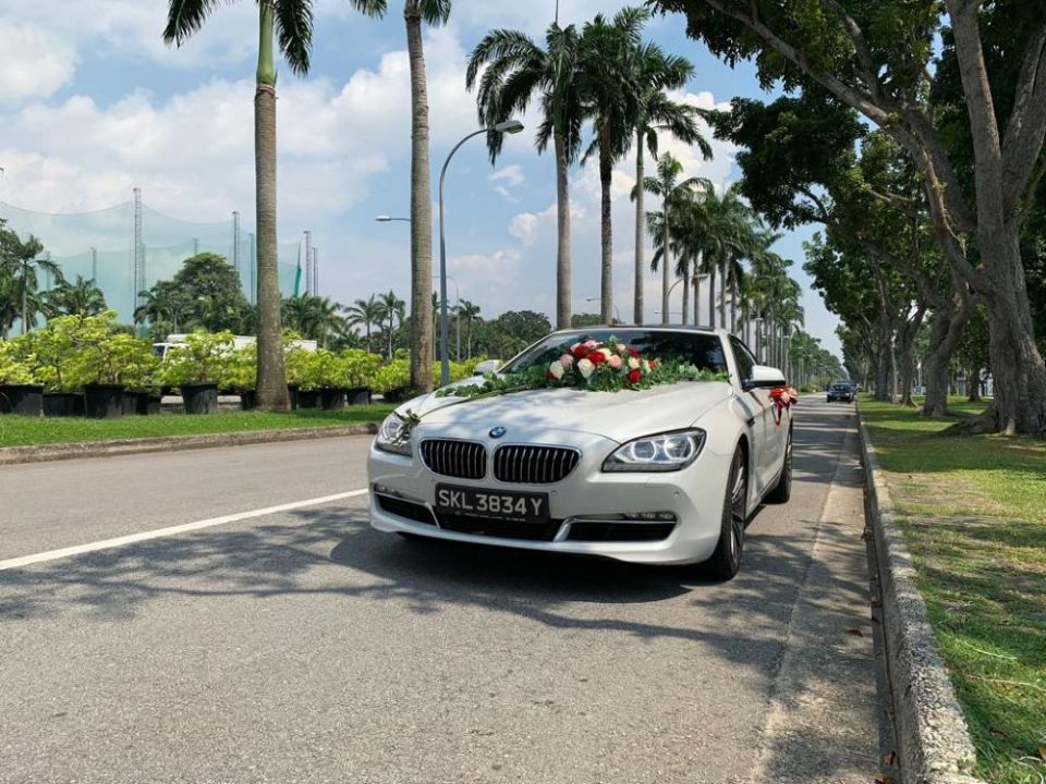 Ace Drive Wedding Car Rental Singapore BMW 640i Gran Coupe Luxe