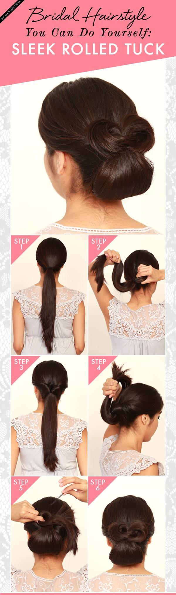 Wedding Hairstyles - Sleek Rolled Tuck