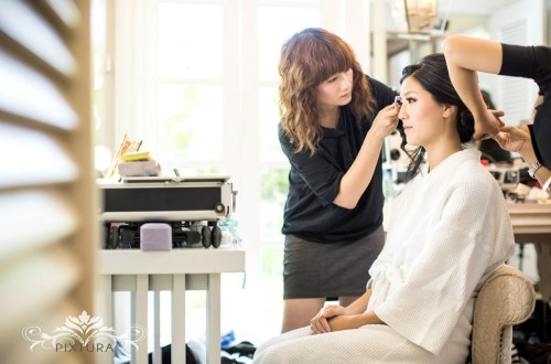 wedding makeup and hairdressing