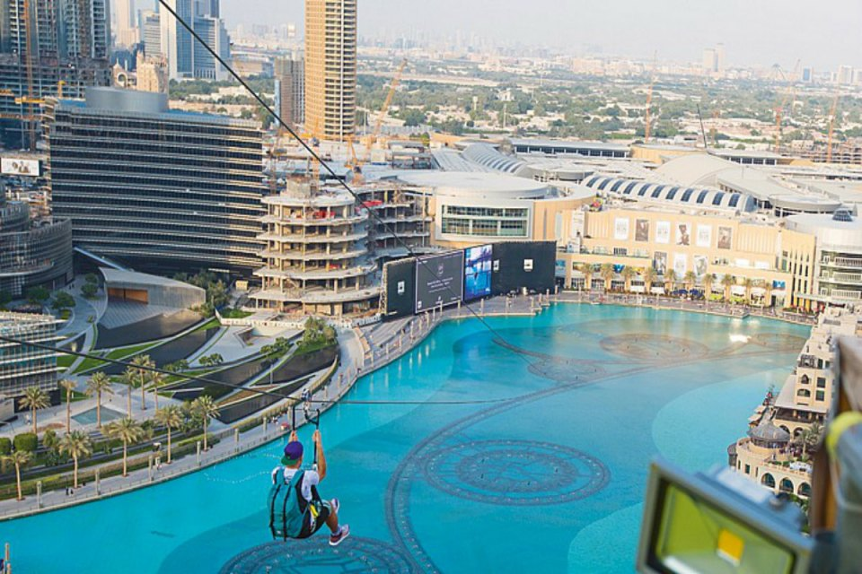 Xline Dubai Honeymoon Zipline