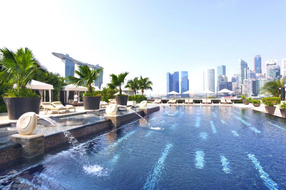 Mandarin Oriental Wedding Poolside Wedding