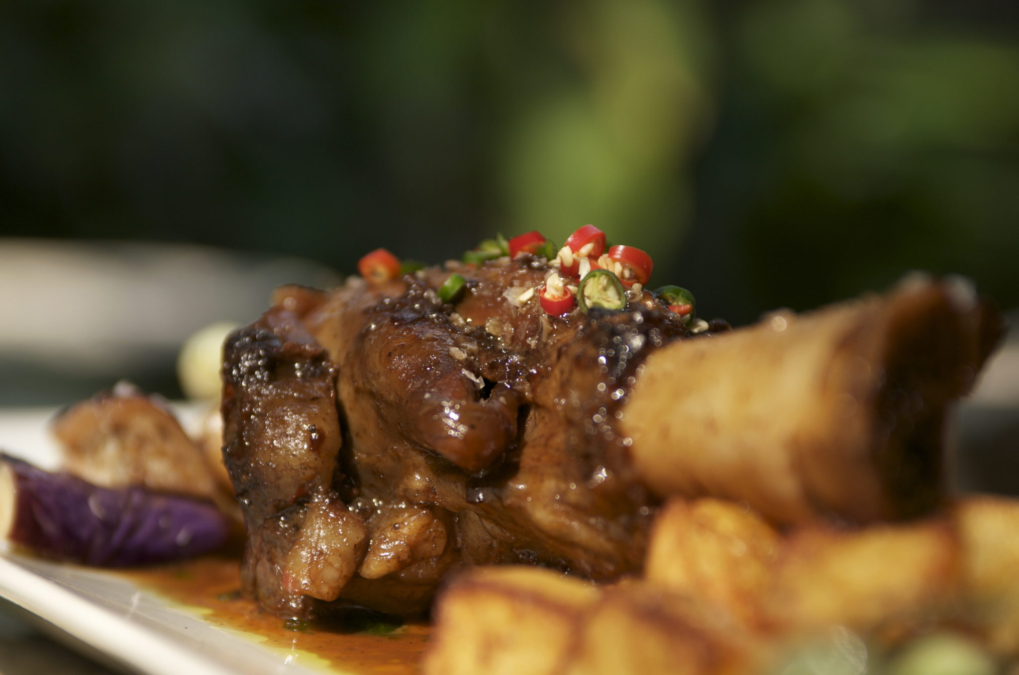 Lamb Shank with Massaman Curry and Roasted Potatoes (Tamarind Hill Singapore)