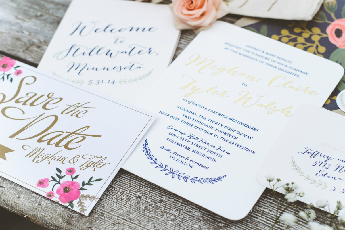 25 Gorgeous Letterpress Wedding Invites That'll Impress YourGuests images