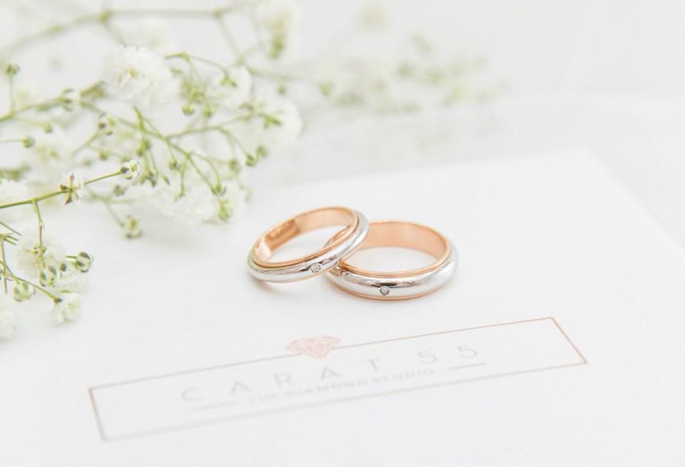 wedding ring carat 55