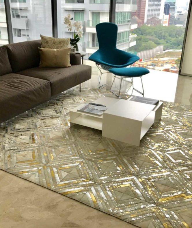 the cinnamon room metallic hide rugs and carpets