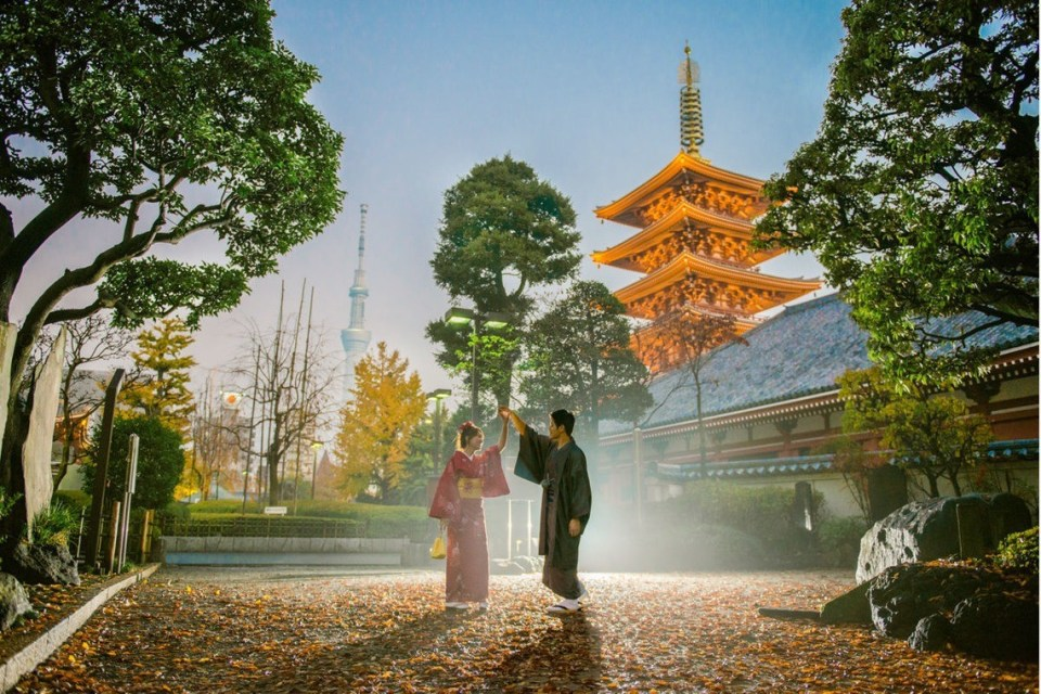 japan photoshoot location ninnaji temple