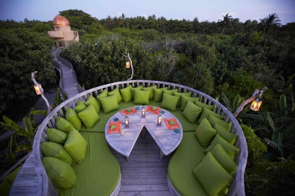 Soneva Fushi Honeymoon impeccable dining