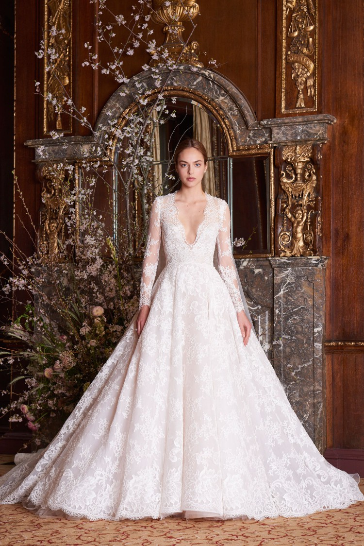 bridal gowns trends Monique Lhuillier