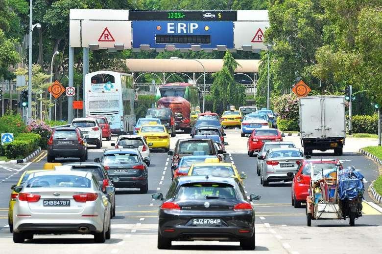 Cars Singapore traffic