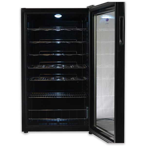 Europace EWV 1331S Wine Cooler with Clear Glass Door (33 Bottles)