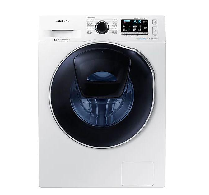 Samsung WD80K6410OW AddWash 8/6kg EcoBubble Front Load Washer DryerSingapore