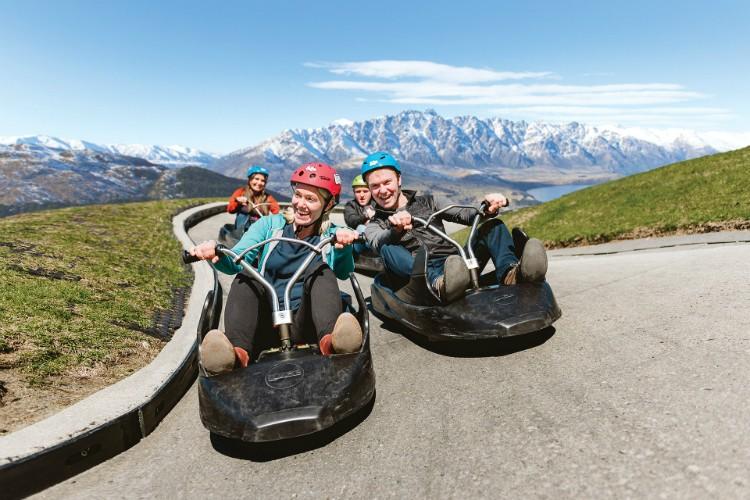 Skyline Luge Rides New Zealand South Island Itinerary