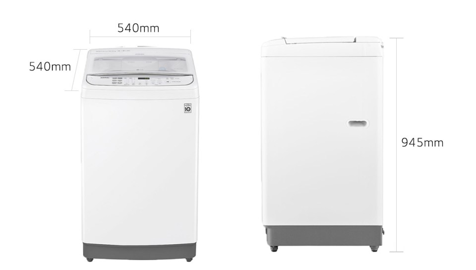 LG TH2110DSAW 10 Kg TurboWash3D™ Top Load Washer (3 Ticks)