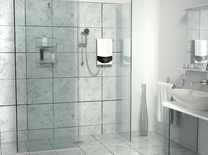 water heater installed in bathroom