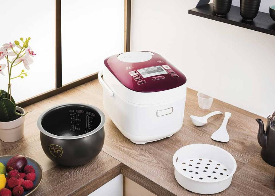 best rice cooker singapore Tefal Pro Spherical Bowl 48-Program Induction Rice Cooker 1.8L RK8045