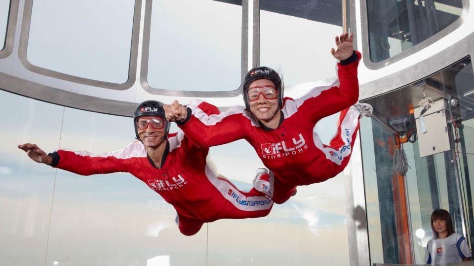 singapore honeymoon Skydiving at iFly Singapore