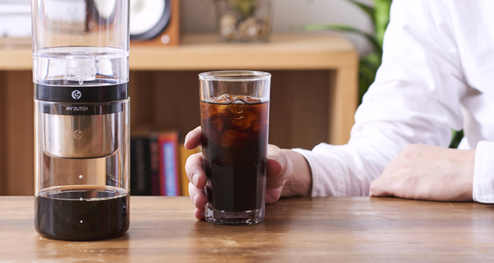 Cold-brew glass of coffee