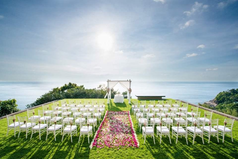 Seaview & Sunset Wedding At Paresa Resort