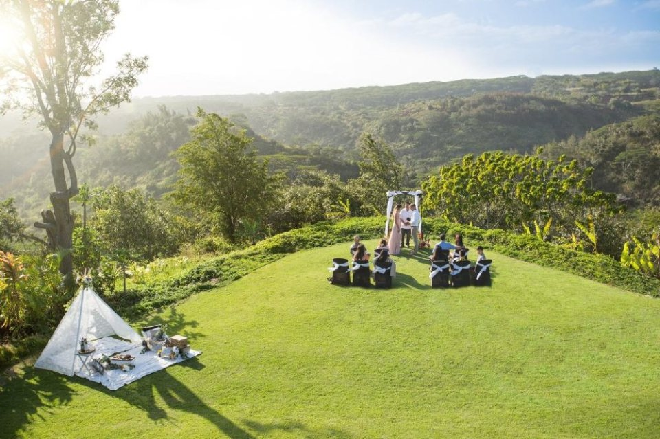 manana hills estate wedding venues hawaii
