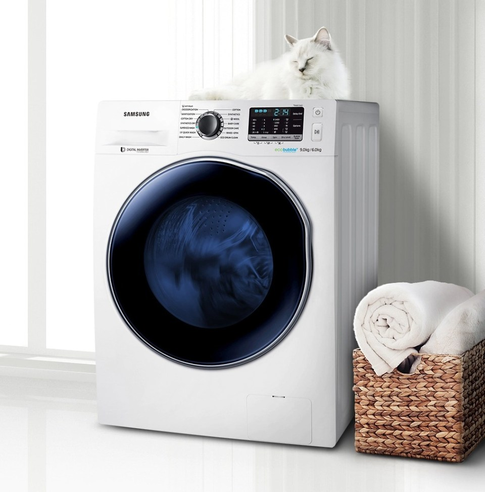 Samsung 7kg 5kg Combo with Eco Bubble, 7kg Washer WD70J5410AWSP