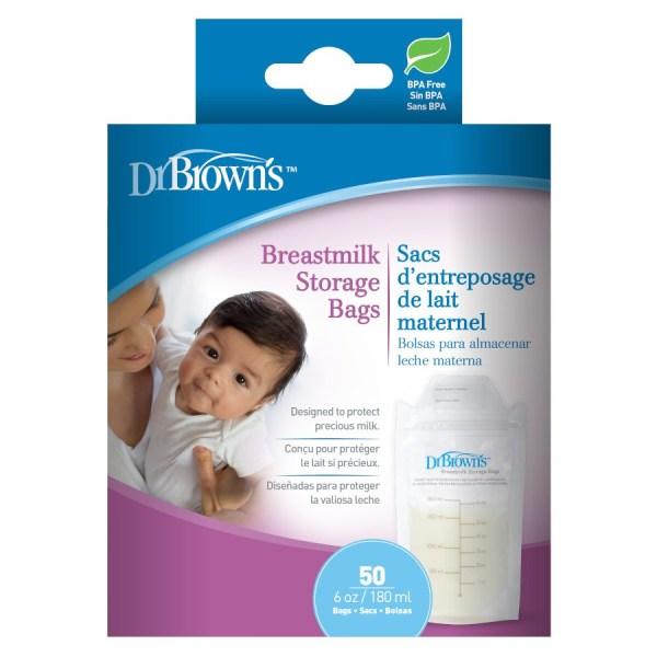 Dr. Brown's Breastmilk Storage Bags (50pcs)