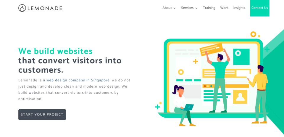 Lemonade Website Designs