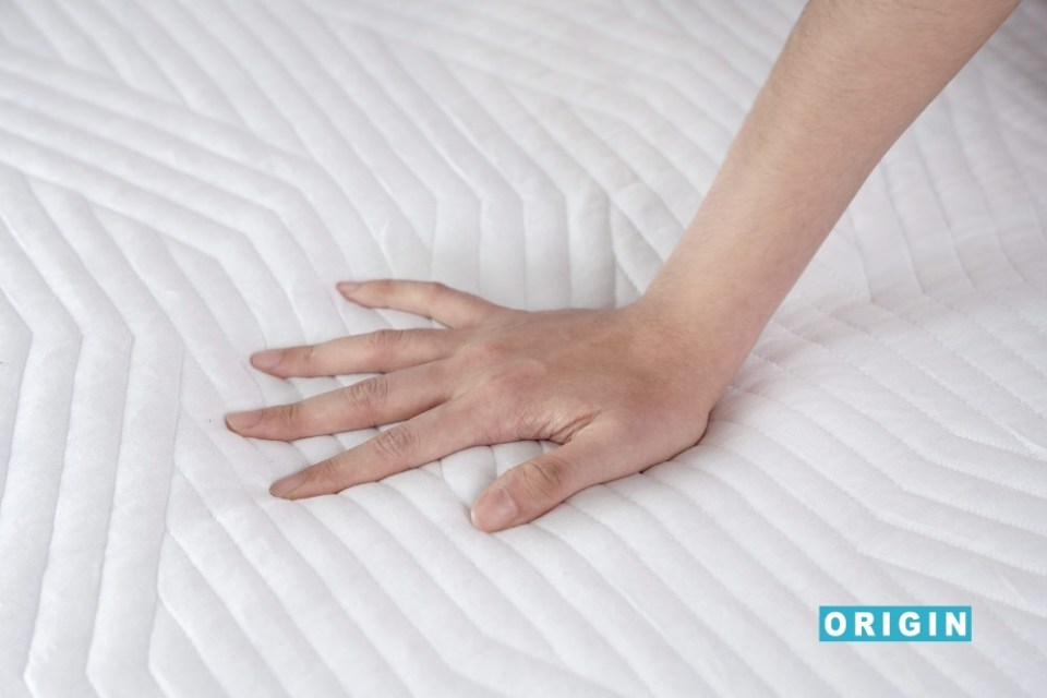 Origin Contour® Ergonomic Memory Foam Best Mattress Topper Singapore Hand