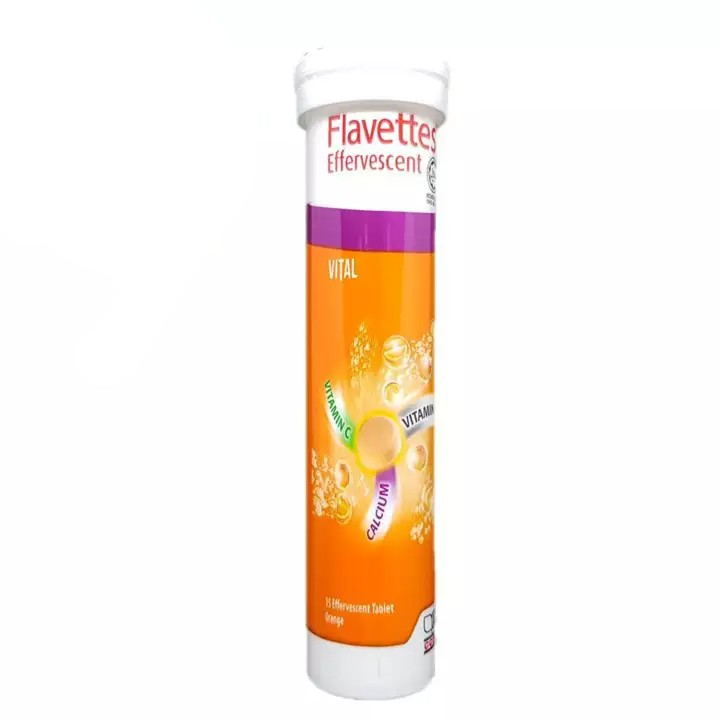 Flavettes Effervescent Vital Vitamin C Supplement Malaysia