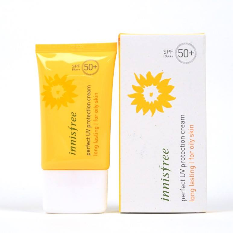 Innisfree Perfect UV Protection Creambest sunscreens for oily skin Malaysia