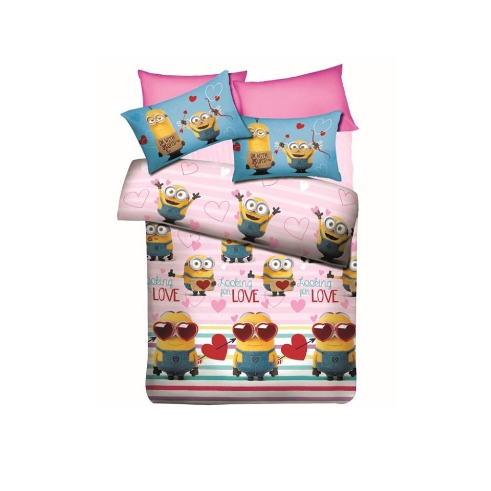 Akemi Minions Fitted Bedsheet Set 480TC