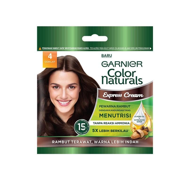 Garnier Color Naturals Express Hair Color cat rambut coklat yang bagus