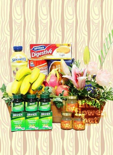 Little Flower Hut fruit basket