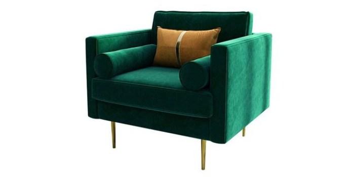 Born in Colour Bethany Velvet sofa nursing chair