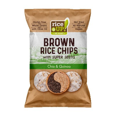 RiceUp! - Popped Brown Rice Chips with Super Seeds