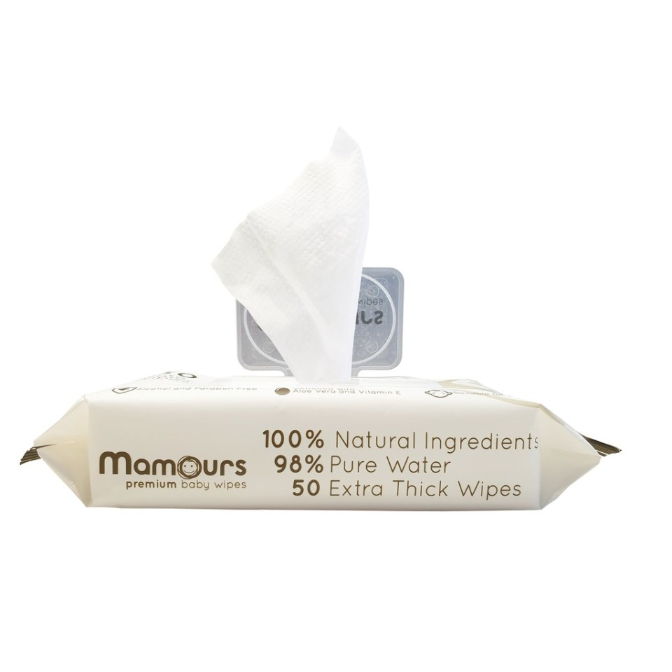 Mamours Premium Pure Water Baby Wipes
