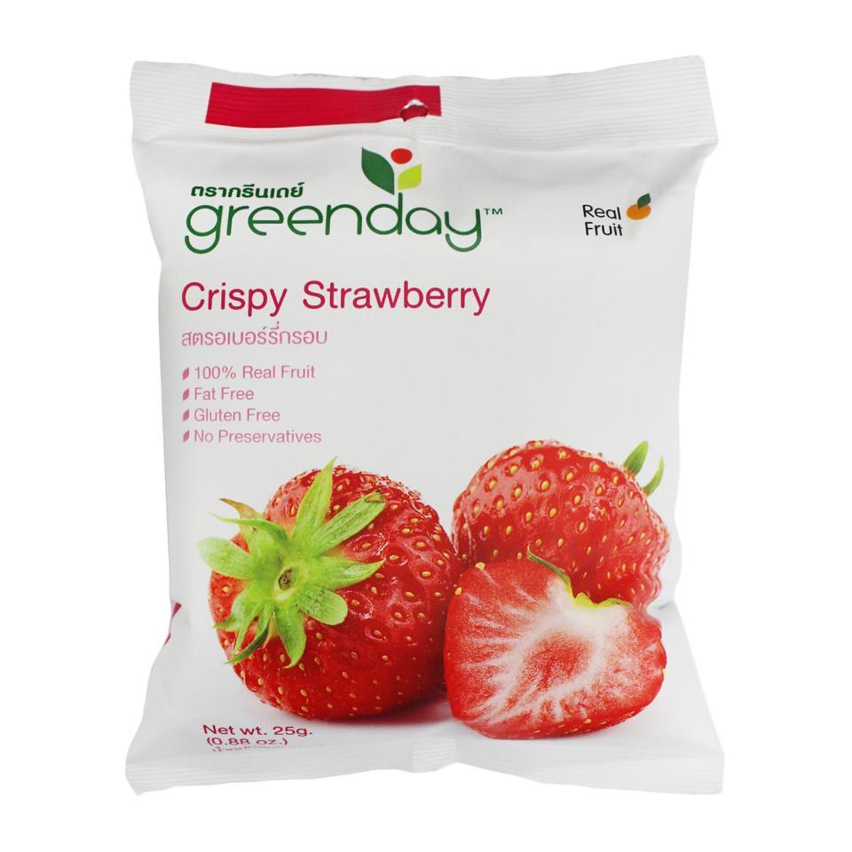 Greenday Crispy Strawberry Best Healthy Snacks Singapore