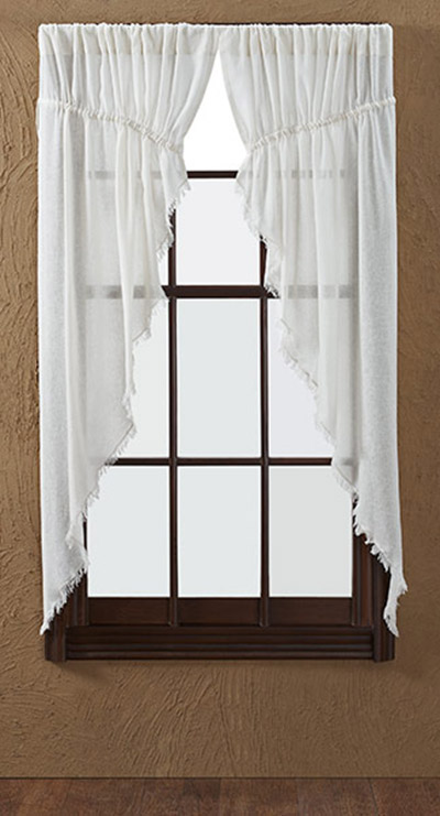 Antique White Tobacco Cloth Prairie Curtain VHC Brands The Weed Patch