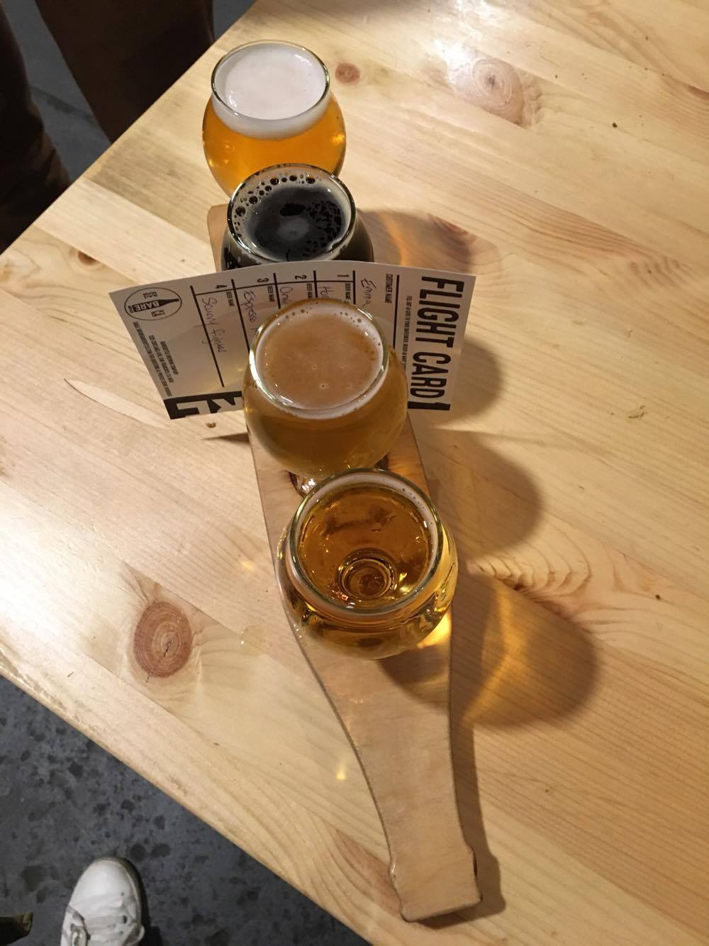 Flight from Barebottle Brewing
